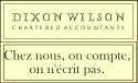 Dixon Wilson : Chez nous, on compte, on n'écrit pas.